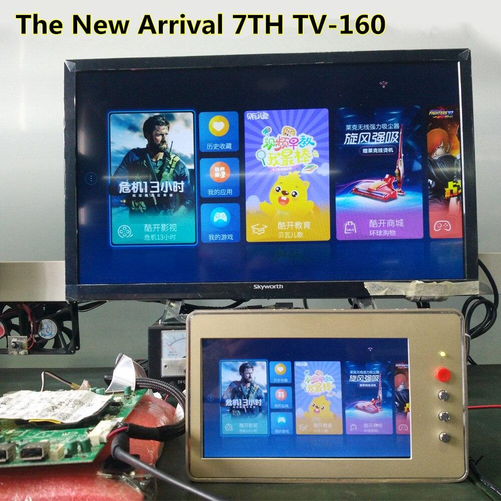 TKDMR 7th TV160 TV Carte Mère Testeur Outils Vbyone et LVDS à HDMI Convertisseur Avec Sept adaptateur pour plateau Livraison Gratuite