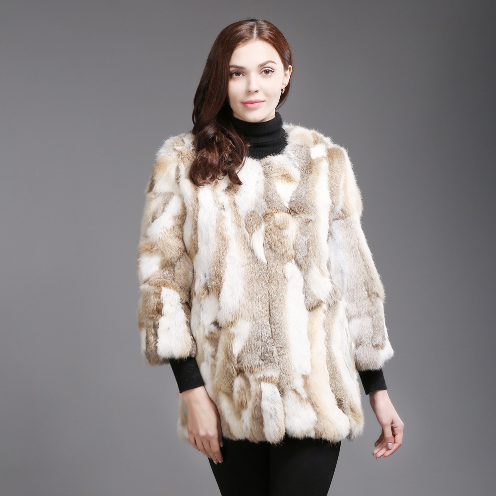 Hiver Vestes Chaud Long Nouveau Casual Style Dame Hot Natural 100 Manteaux Femmes Yellow Réel natural Lapin Naturel Outwears Grey De Fourrure OAzqpxO