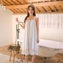 مشروط الأبيض الدانتيل أكمام قمصان النوم للنساء الرجعية Vintage الأميرة الإناث فضفاضة ملابس خاصة فستان سهرة مثير