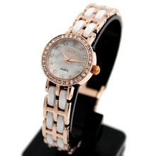 Фотография FW862G Round Rose Gold + PNP Watchcase Women Stylish Alexis Brand  Ceramic Watch