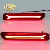2PCS For Suzuki SX4 2007 - 2017 SNCN Multi-function LED Rear Bumper Light Rear Fog Lamp Auto Bulb Brake Light Reflector