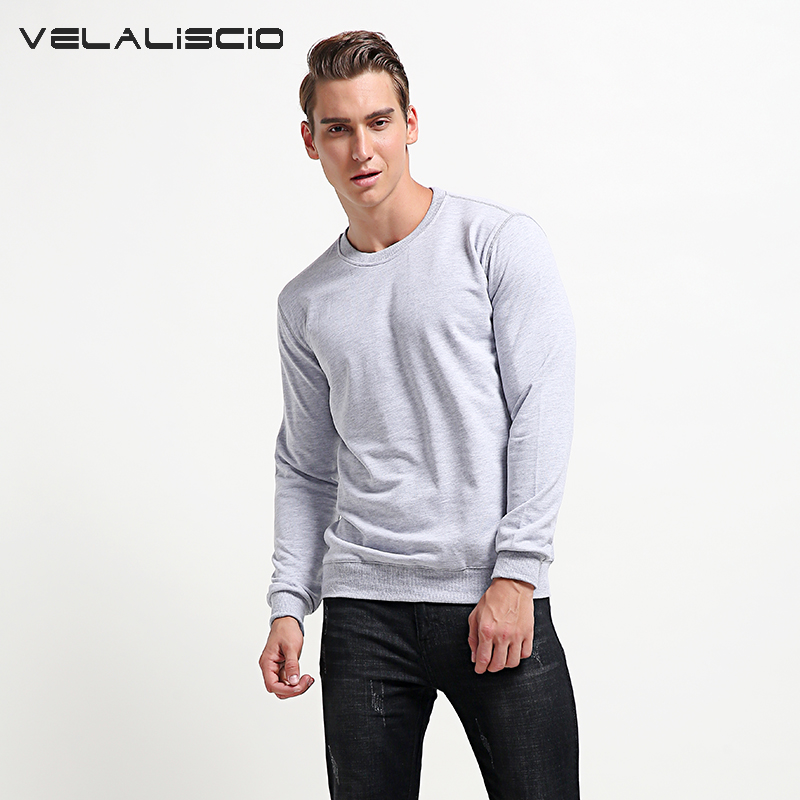 VELALISCIO Brand 2017 New Autumn Winter Fashion Hip Hop Hoodies Casual Large Size Coat Men Solid Street Sweatshirts Pullover ...