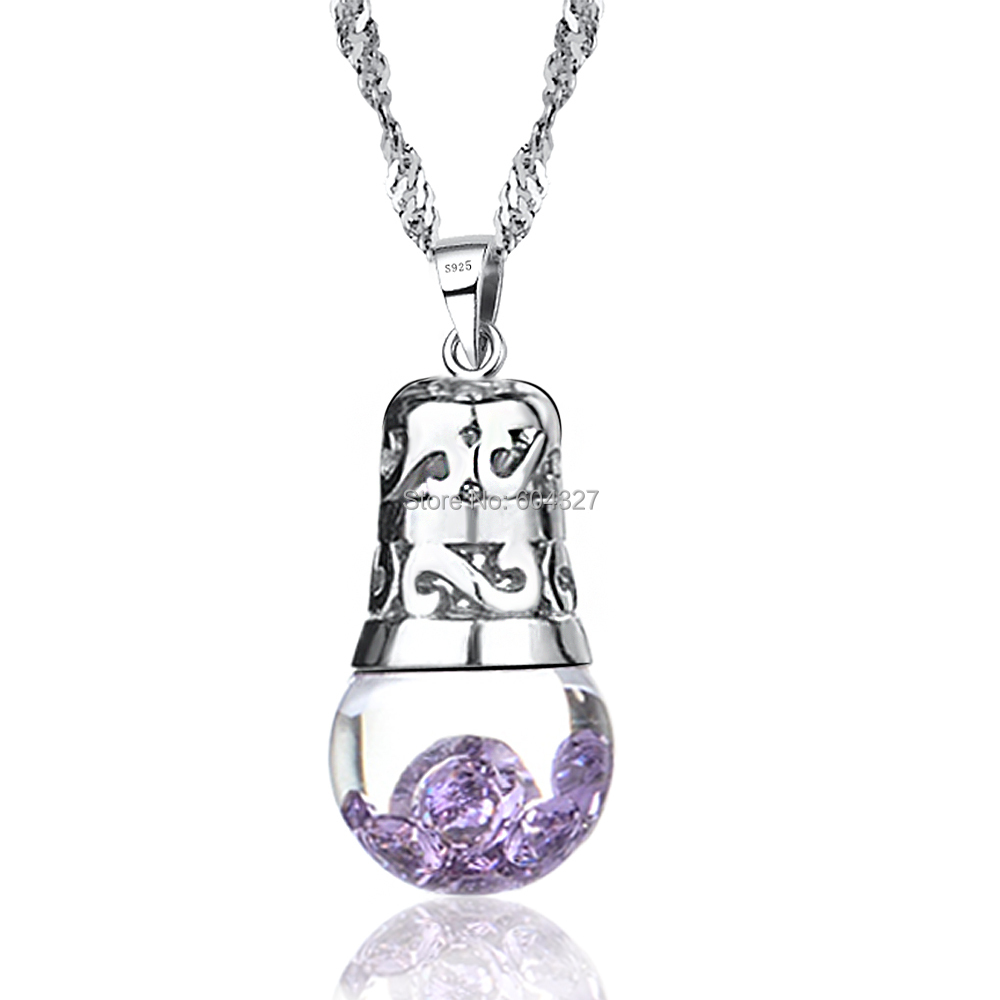 initial zoom silver birthstone pendant necklace il with june listing fullxfull