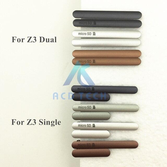 Original New Charging Port USB Cover +Micro SD Port+SIM Card Port Slot Dust Plug for Sony Xperia Z3 D6603 D6643 Z3 dual D6633