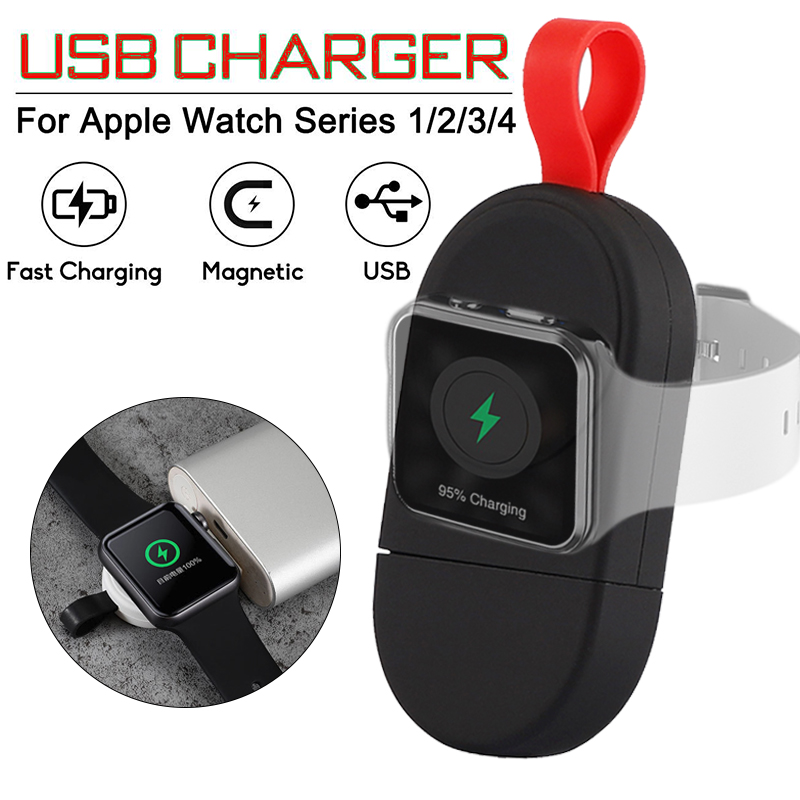 New Magnetic Wireless Charger for Apple Watch 4 3 2 1 Portable Wireless Charging USB Charger for iWatch Series 1 2 3 4 in Mobile Phone Chargers from Cellphones Telecommunications