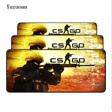 Yuzuoan Csgo Large Overlock mouse pad 800x300x3mm mouse mat