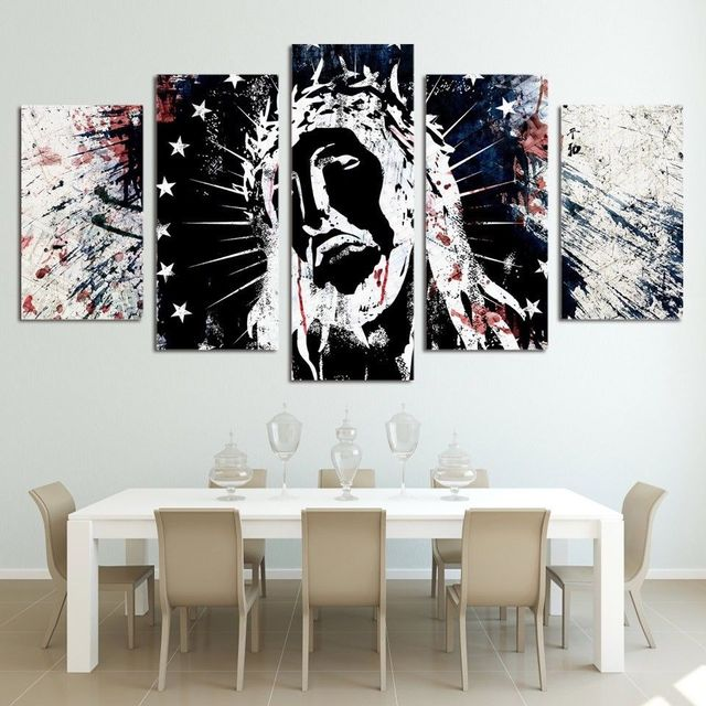 Framed Home Decor Canvas Print Painting Wall Art Jesus Christ ...