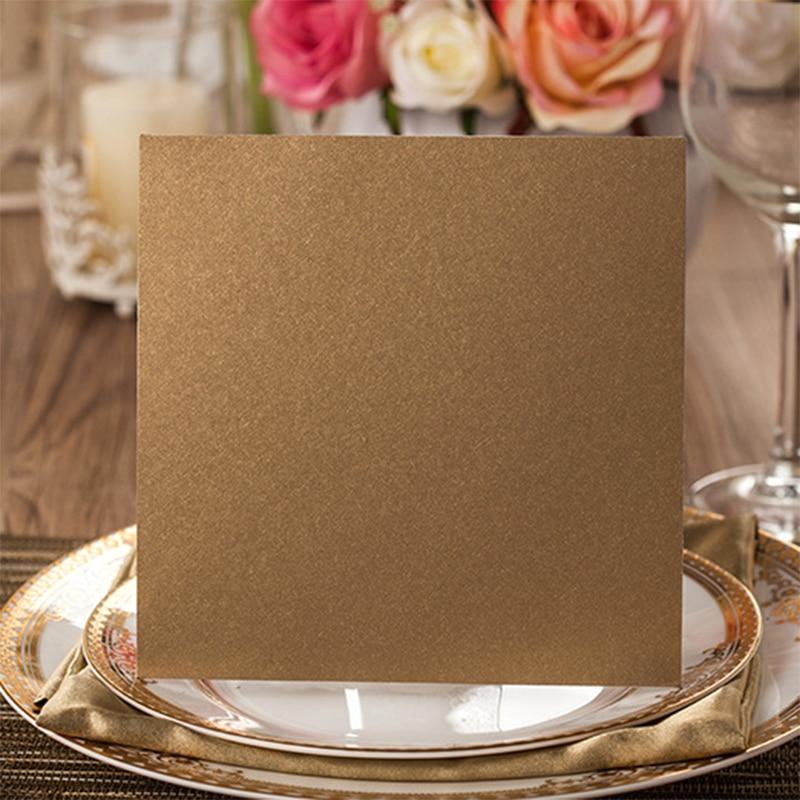 10sets Design Rustic Gold Wedding Invitations Laser Cut Invitation ...
