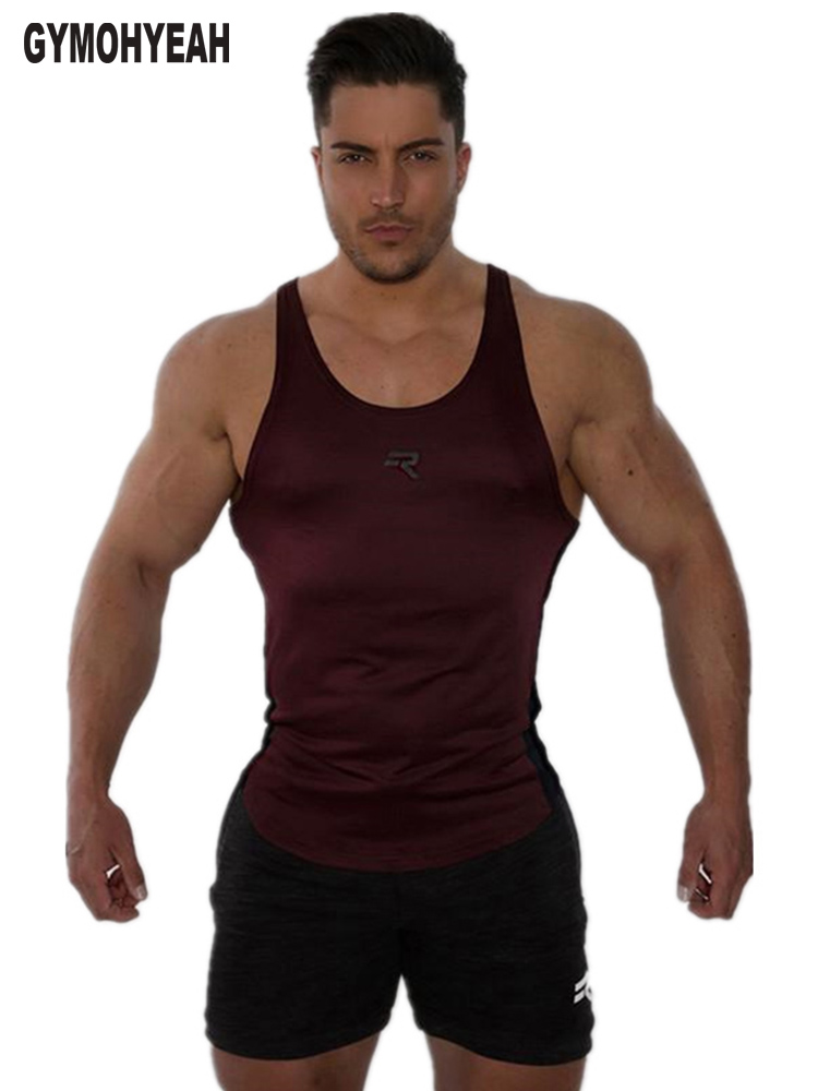 new gyms clothing mens   tank     tops   workout bodybuilding   tank     top   men fitness muscle sleeveless slim fit shirt vest size M-XXL