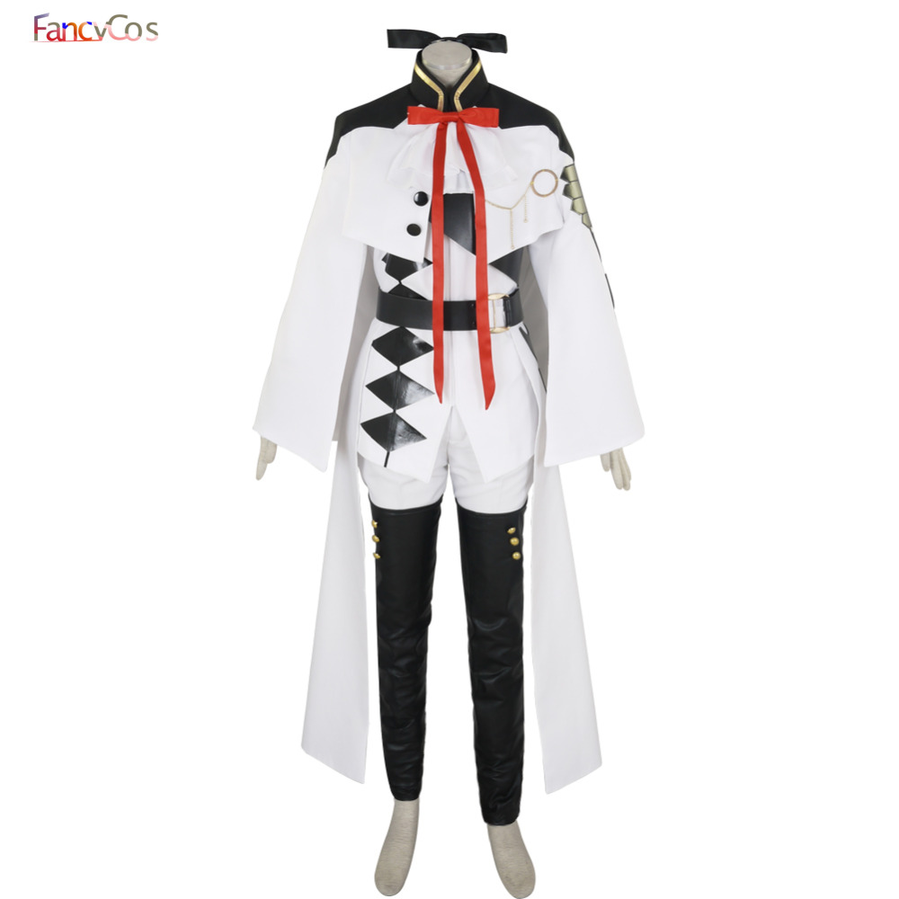Halloween Men's Seraph of the end Ferid Bathory Uniform Cosplay Costumes adult costume Movie High Quality Deluxe