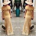Plus Tamaño Nigeriano Africana Del Cordón de La Sirena Vestidos de Noche 2017 Largo Vestido de Noche Vestido de Noite longo Plus tamanho