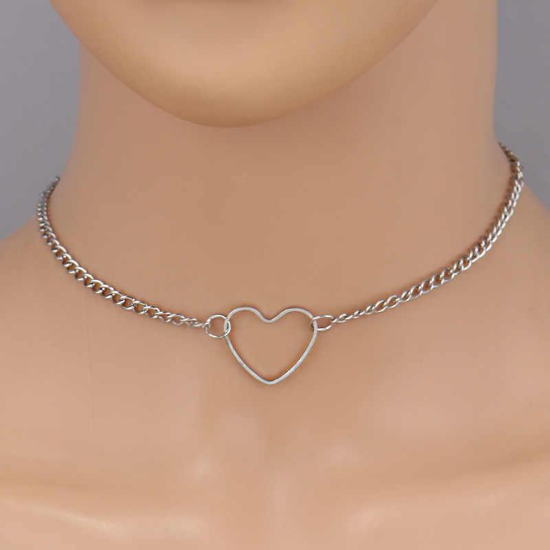 Tenande prosty łańcuszek do obojczyka ptaki krzyż serca gwiazdy imitacja perły naszyjniki dla kobiet Punk Party Collier