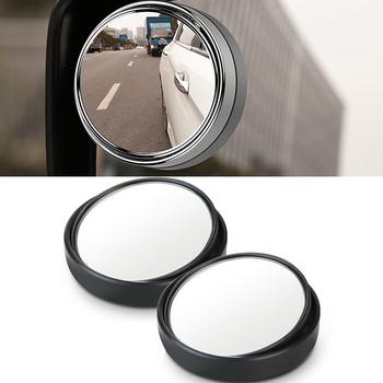 360 stopni szerokokątny okrągły wypukły Blind Spot lustro do parkowania lusterko wsteczne wysokiej jakości dla honda toyota Audi ford mazda tanie i dobre opinie QCBXYYXH BX0410 mirror Wnętrze lustra Blind Spot Rear View Mirrors 2018 0 9cm 4 5cm for universal cars