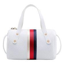 Mini Pu Leather Women Handbag Messenger Shoulder Crossbody Bag Classic stripes Cute Wallet Female