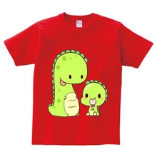Cartoon Print Baby Boys Dinosaur T Shirt For Summer Infant Kids Boys Girls Short Sleeve T-Shirts Lovely Toddler Tops tee  NN summer lovely baby boys short sleeve t shirt kids striped turtleneck neck tee tops polo shirt tops for 2 7 years teens