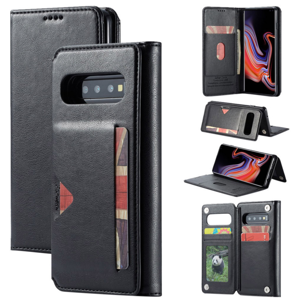 Case For Samsung Galaxy S10 Plus Leather Slot Wallet Stand Flip Cover Skin Cases For Samsung Galaxy S10+ 6.4 Inch Coque