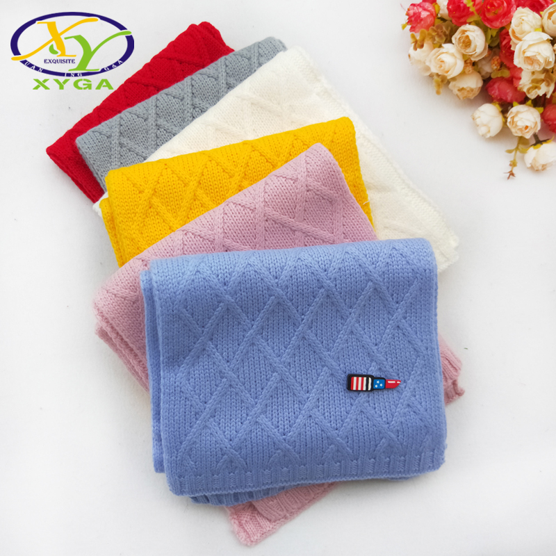 1PC Children's Wool Long   Scarves   Soft Warm 2018 Winter Boys and Girls Knitting   Wraps   Child Baby Kids Woollen Polyester   Scarf