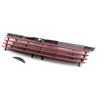 Grill For 99 04 VW Jetta Bora MK4 Sport Black Front Hood Badgeless Grille Horizontal Grill