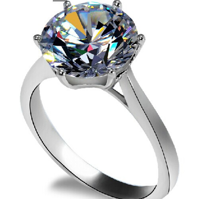 Famous Brand Moissanite Solid 14K Gold Ring 4 Carat Excellent Moissanite Engagement Ring For Women Anniversary Precious Jewelry  invisible bra