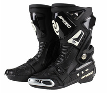 Free shipping PRO BIKER Speed road motorcycle racing boots shoes knight boots race boots B1005 black
