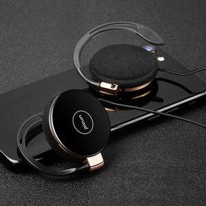 Image 1 - RUKZ auriculares estéreo L1 con gancho para la oreja para teléfono inteligente, dispositivo HiFi para correr, Control de volumen