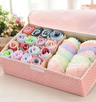 Waterproof Oxford Cloth Underwear Storage Box Home Storage Kit Drawer Closet Organizers Save Space Foldable 13 Grids