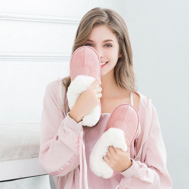 Kadınlar Kış sıcak Tam Terlik Kadın Terlik Pamuk Koyun Severler Ev Terlik Kapalı Artı Boyutu ev ayakkabıları Kadın toptan