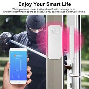 Image 5 - Tuya APP sterowania czujnik drzwi okno otwarte bezpieczeństwa czujnik alarmu przełącznik magnetyczny czujnik bezprzewodowy współpracuje z Alexa Google domu