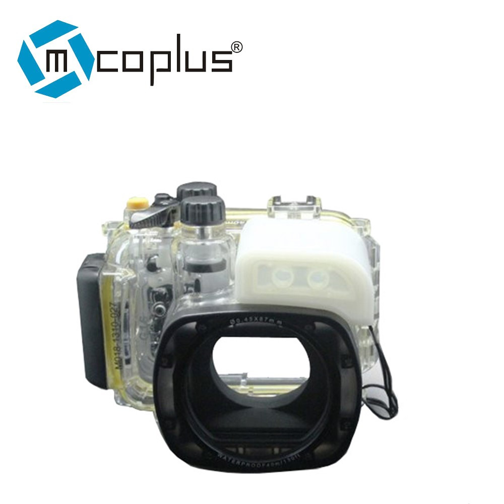 Mcoplus G16 40m 130ft Waterproof Underwater Housing Camera Case Bag for Canon G16 Camera 40m 130ft waterproof underwater camera housing case cover bag for canon eos 600d t3i camera two hands tray