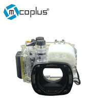 Mcoplus G16 40m 130ft Waterproof Underwater Housing Camera Case Bag for Canon G16 Camera