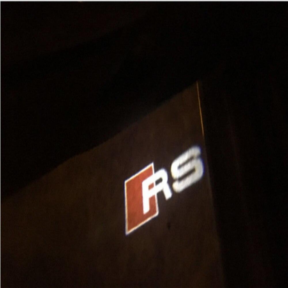 Jurus 2 шт. ВОДИТЬ Автомобиль Дверь Добро пожаловать света лазерный проектор RS Логотип для Audi A1 A3 A5 A6 A8 <font><b>A4</b></font> B6 <font><b>b8</b></font> C5 80 A7 Q3 Q5 Q7 логотип свет