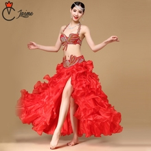 for oriental dancePerformance Egyptian Belly Dancing Outfits Belly Dance Costume 3pcs/ Set  (Bra, Belt, Skirt) new arrival 2017 belly dancing oriental dance costumes performance 3pcs bead set bra belt skirt belly dance costume set