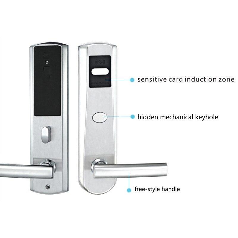 Elektronisk RFID-kort Dørlås med nøgle Elektrisk lås til - Sikkerhed og beskyttelse - Foto 2