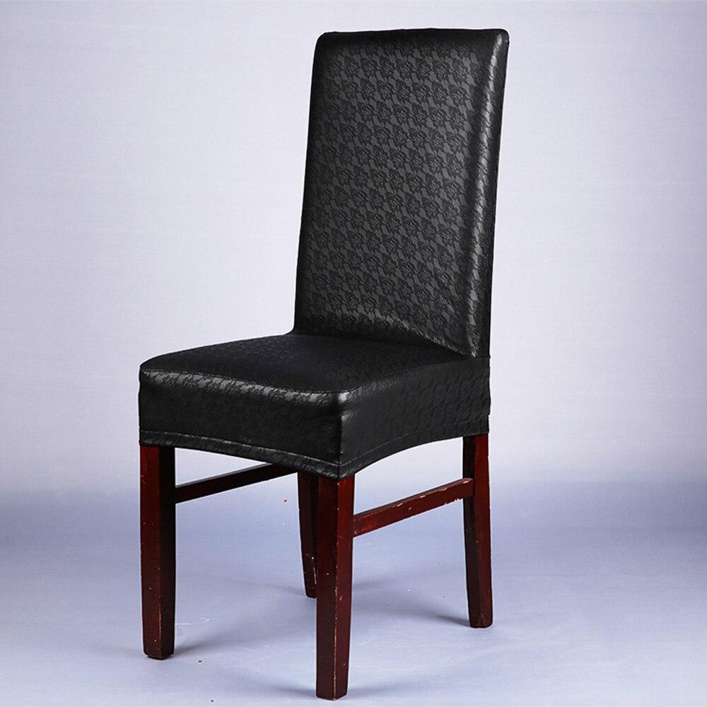 10 sztuk/partia dekoracji pokoju biurowego wino czerwone koronki wzór elastyczna fotel PU pokrywa hotelu domu Multi Color wodoodporna pokrowce na krzesła w Pokrowiec na krzesło od Dom i ogród na  Grupa 2
