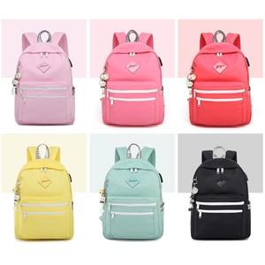 Image 3 - WINNER 2018 New Korean Version USB Backpack Women Anti Theft School  Travel Backpack Small Fresh Laptop School Bags Men Zaino
