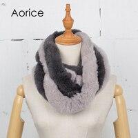 Aorice SF764 2017新しい冬の女性のスカーフ毛皮スカーフリアルウサギのヘアスタイルの長いスタイルの毛のスカーフ快適warmt