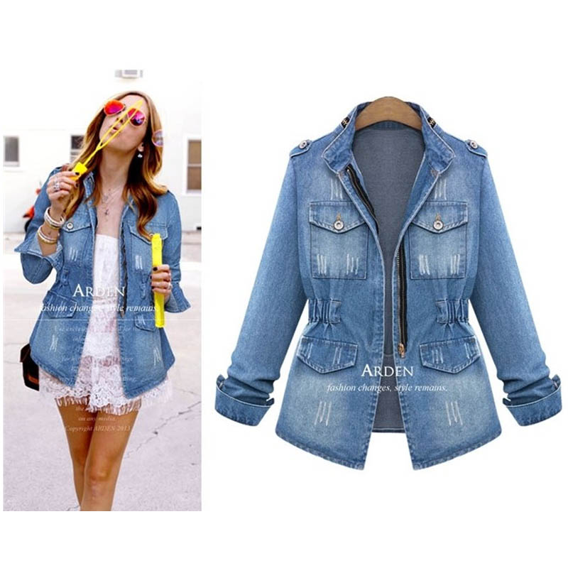 5xl big size jacket women jaqueta feminina denim jacket jaqueta jeans jacket women plus size