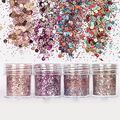 New Arrival 10ml/Box Women Fashion Nail Art Glitter Powder Mixed Sequins Manicure Tips Decoration