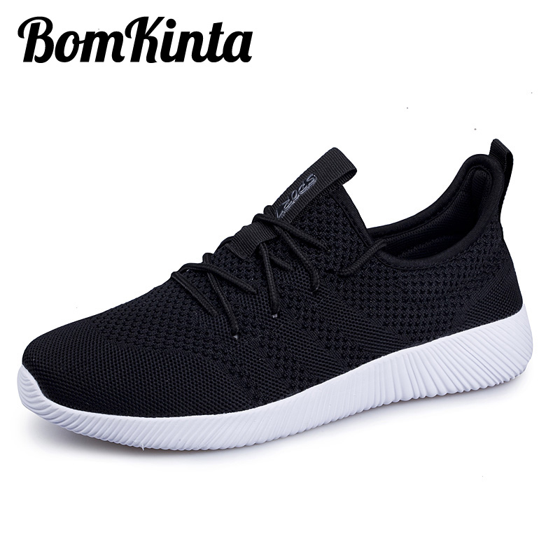 BomKinta New Arriving Size 35-45 Couple Shoes Unisex Men Casual Shoes Breathable Sneakers For Male Mesh Lightweight Footwear