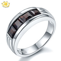 Hutang 1 92Ct Mystery Black Garnet Solid 925 Sterling Silver Ring Womens Trendy Fine Jewelry Birthstone