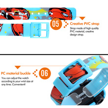LED Digital Children Sport Watch Cartoon Car Wristwatch Kids Casual Electronic Watches LL@17