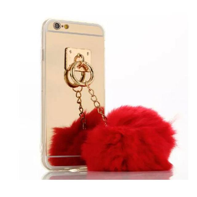 coque iphone 7 plus pompom