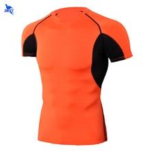 Compression-Shirt Rashguard Mesh Sport-Tops Crossfit Patchwork Gym Fitness Bodybuilding