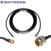 Eightwood 25ft RF Coax Extension Cable(50Ohm) SMA Male to N Male for 3G/4G/LTE/Ham/ADS B/GPS/RF Radio to Antenna or Lightning