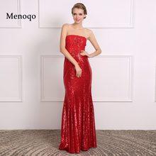 2018 elegante Red Mermaid Pailletten Applique Abendkleid Real Sample Bild  Sexy Party Kleid vestidos de festa ec961f3f9c