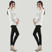 Plus Velvet Thickening Winter Maternity Leggings Pants Clothes For Pregnant Women Warm High Waist Suspender Pregnancy Trousers