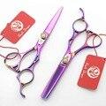 Быстрая доставка! Профессиональные ножницы новинка фиолетовый полой ручки 5.5 дюймов 440C высокая - класс парикмахерские ножницы парикмахера