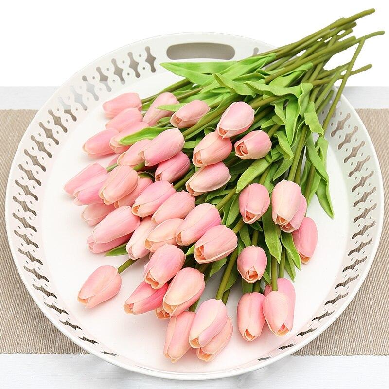 Acheter 20 pcs Artificielle Faux Fleur Real Touch Tulipe Bouquet Simulation Fleurs De Décoration pour la Décoration De Mariage Accessoires pour La Maison AFT1330 de flowers for fiable fournisseurs