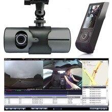Double caméra voiture DVR Dashcam 2.7 » 1080 P GPS double Len voiture DVR véhicule caméra vidéo enregistreur Dash Cam Dashboard enregistreur Portable