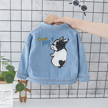 Baby Girls Denim Jackets Boys Coats and Jackets Children Jacket Denim Coat Spring Autumn Kids Windbreaker For Girls Clothes цена 2017
